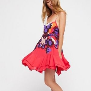 Free People Pink Sweet Lucy Floral Slip Dress S